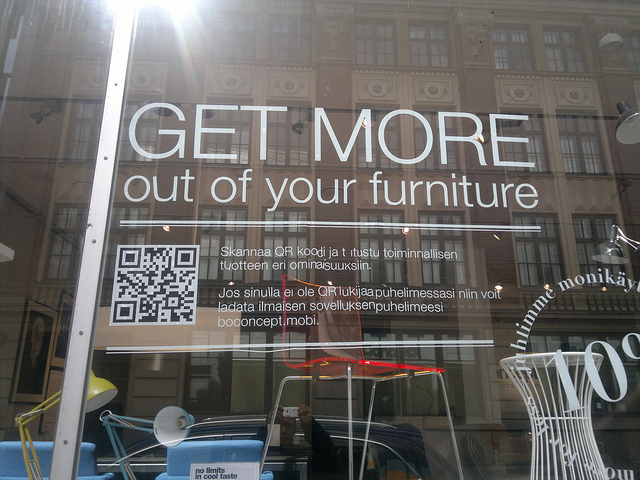 BoConcept QR Code use on store window