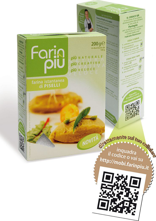 Farin Piu QR Code use for recipes