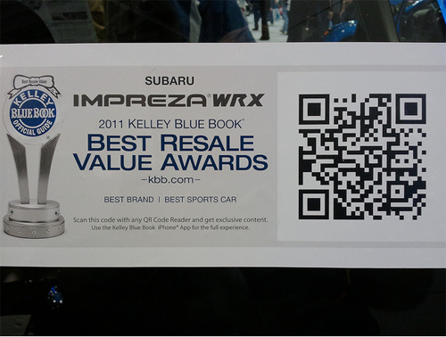 Subaru Impreza WRX Winner by Kelly Blue Book 2011