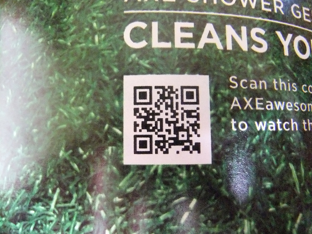 Axe QR Code leads to video