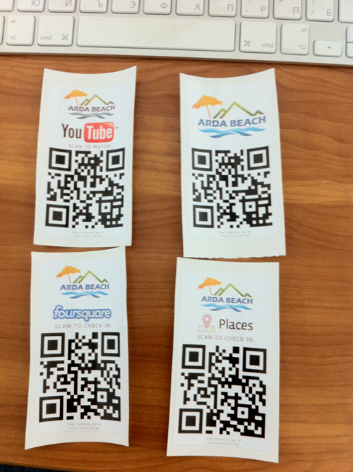 Arda Beach us QR code for social marketing