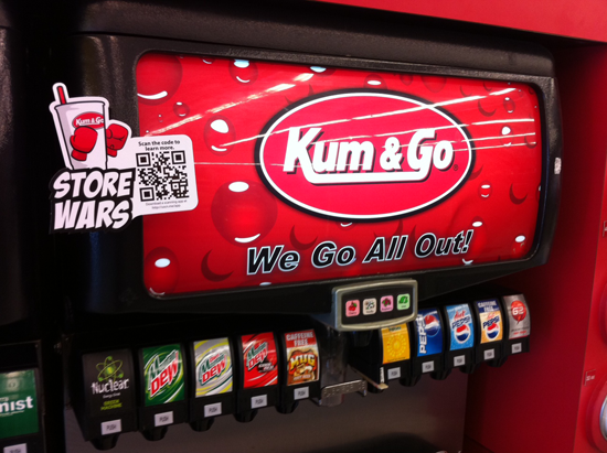 Kum and Go Store Wars qr code far