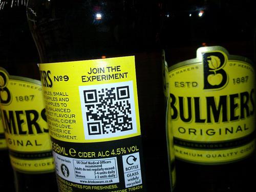 bulmers original cider qr code experiment