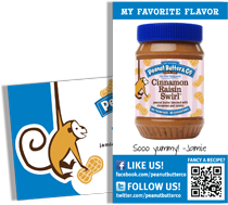 Peanut Butter & Co. business cards