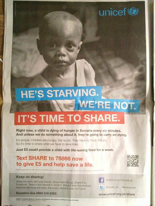 UNICEF QR Code on poster