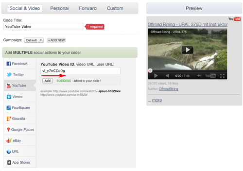 YouTube Video Dashboard 1