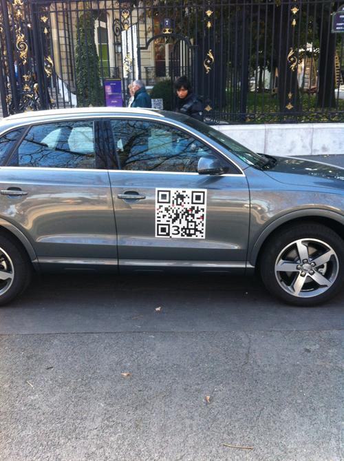 Audi Qube 3 QR code on Audi Q3