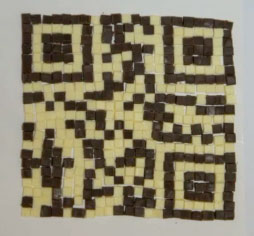 Homemade QR Code chocolate