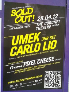 Knockout Events Sold Out QR Code on flyer