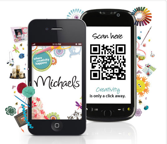 Michaels QR Code usage for download apps
